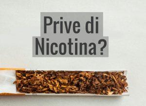 prive di nicotina