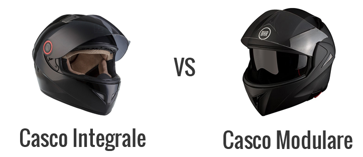 casco integrale vs modulare