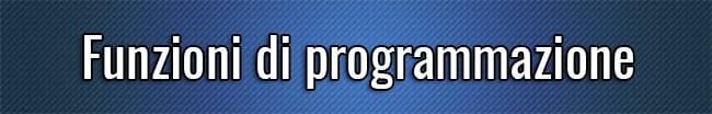 Funzioni di programmazione