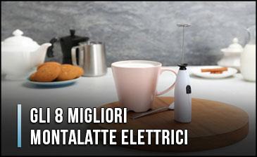 Frullino Monta Schiuma con Stand Per Latte Cappuccino Caffè Frullato Salse Cioco